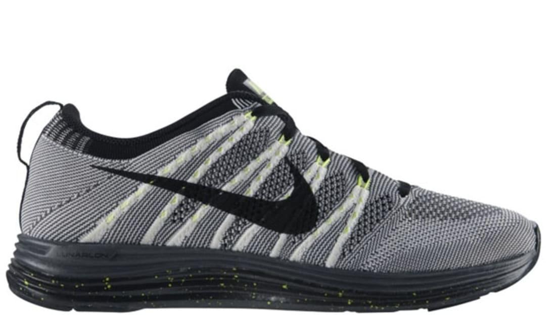 pretty nice fb1a4 d2160 Nike Free Flyknit Lunar1 White Black-Dark Grey-Volt