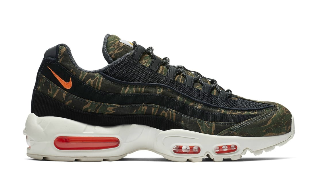 46c50d5b1f3ae Carhartt WIP x Nike Air Max 95 Black/Sail-Total Orange | Nike | Sole ...