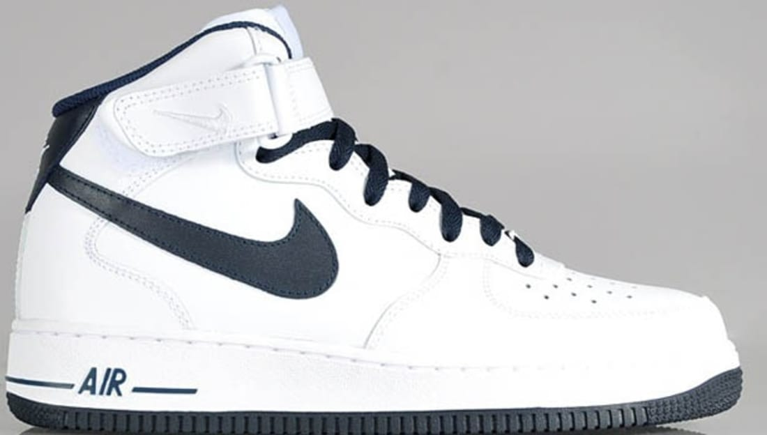 best service ed80f 710cc Nike Air Force 1 Mid White/Dark Obsidian | Nike | Sole Collector
