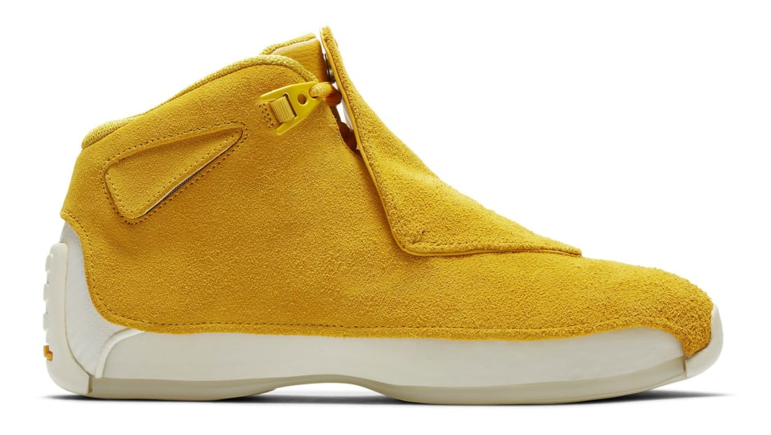 58f2f094c59c Air Jordan 18 Retro Yellow Ochre Yellow Ochre-Sail