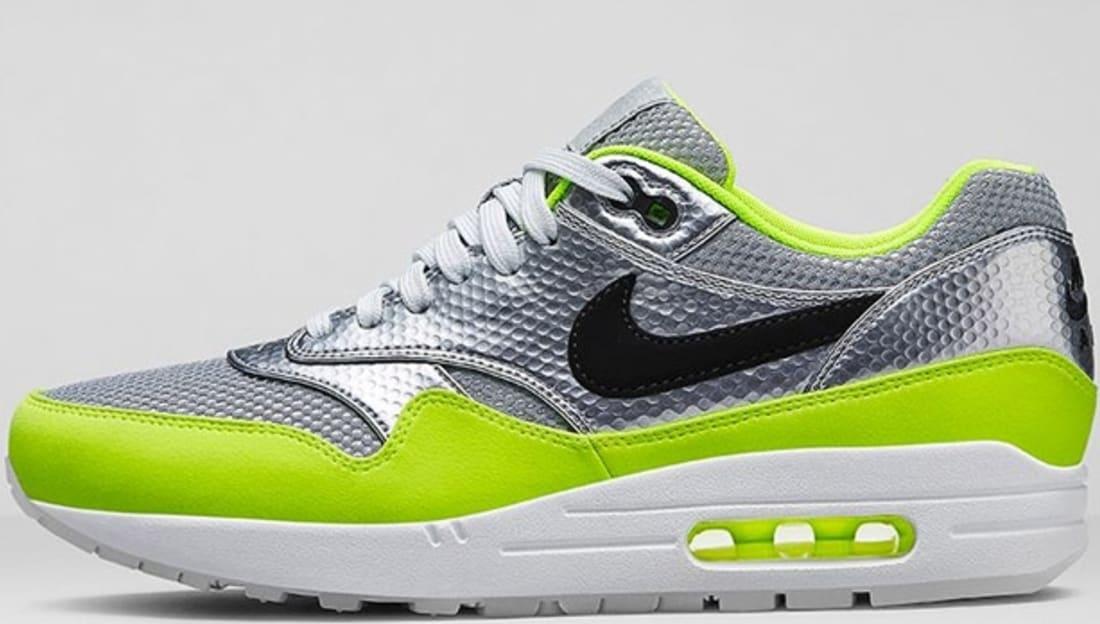 Nike Air Max 1 FB Premium QS Metallic Silver/Black-Volt