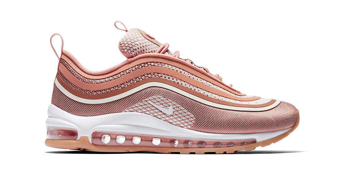 NIKE AIR MAX 97 ULTRA '17 WOMEN'S SHOE METALLIC ROSE GOLDGUM LIGHT BROWNWHITE