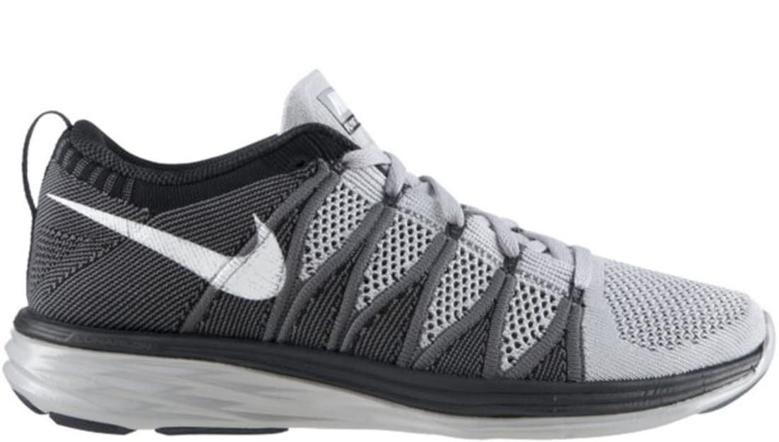 Nike Flyknit Lunar2 Wolf Grey/White-Dark Grey-Black