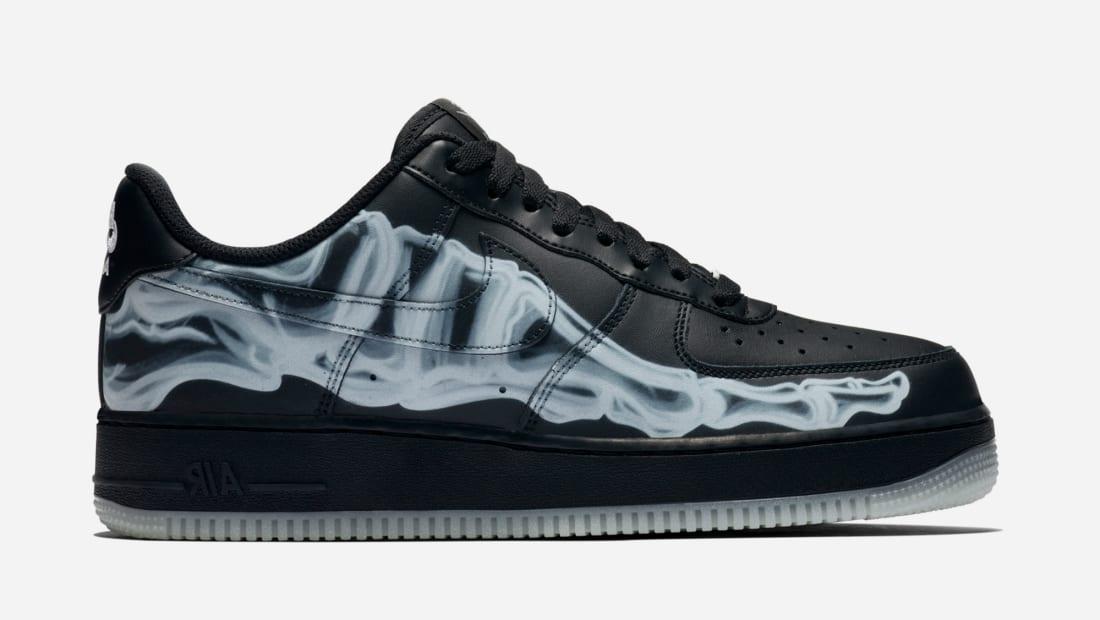 Nike Air Force 1 Low Black/Black-Black (Black Skeleton)