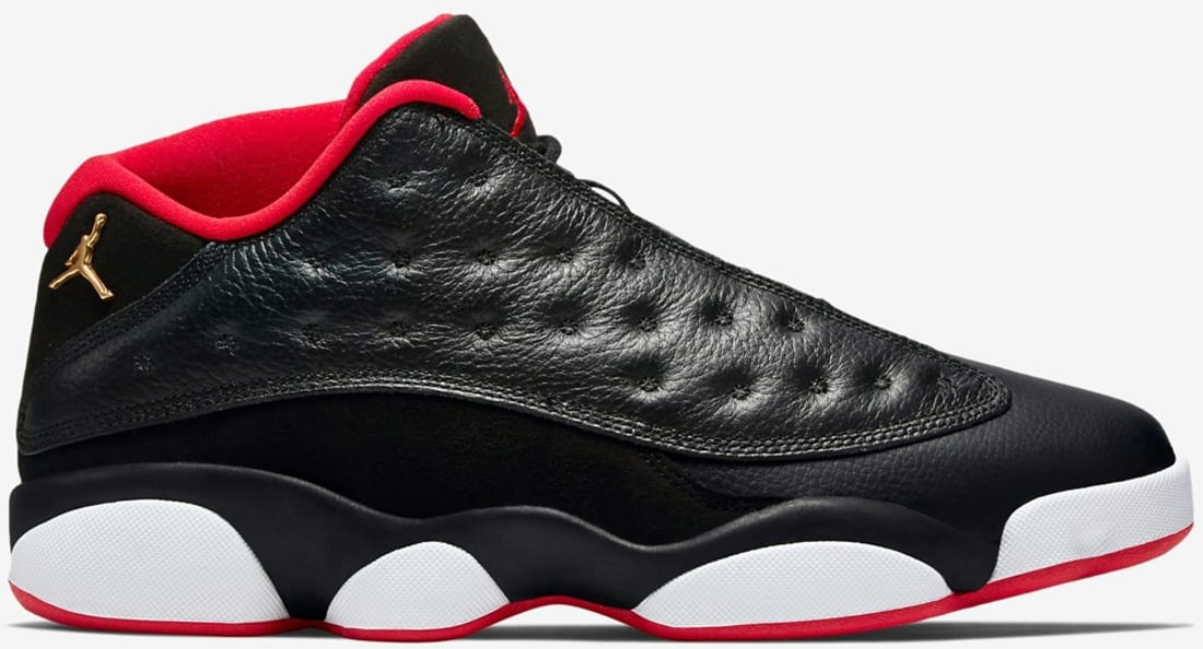 c0746a61db578f Air Jordan 13 Retro Low Black Metallic Gold-University Red-White ...