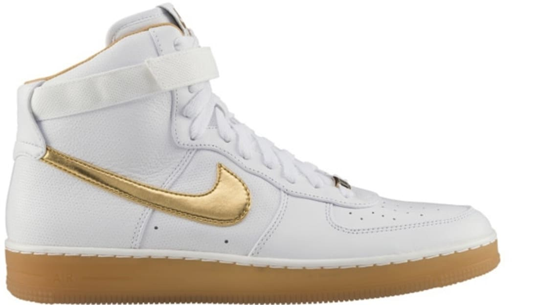 gold air force 1 high top