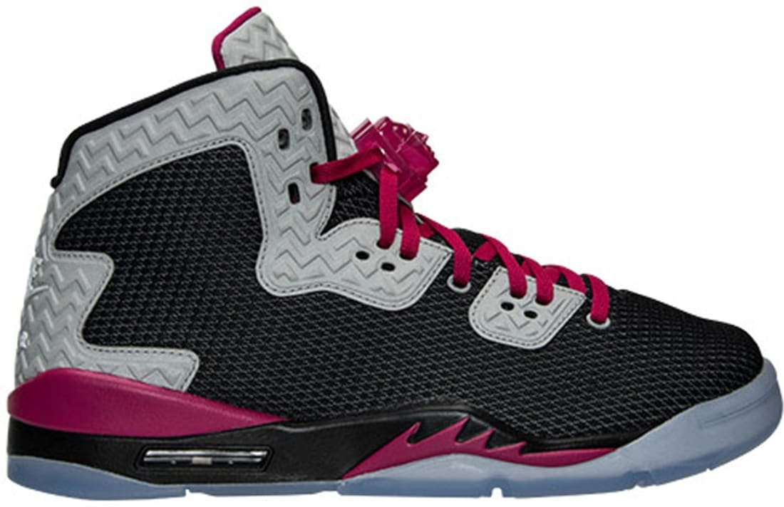 Girls Air Jordan Spike Forty PE Black/Sport Fuchsia