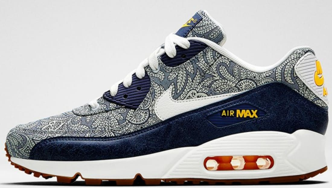 Nike Air Max '90 Liberty Women's Blue Recall/White-Atomic Mango-Linen
