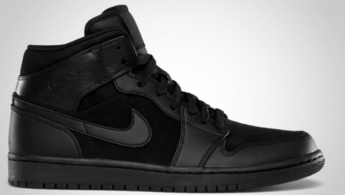 Air Jordan 1 Phat Mid Black/Black
