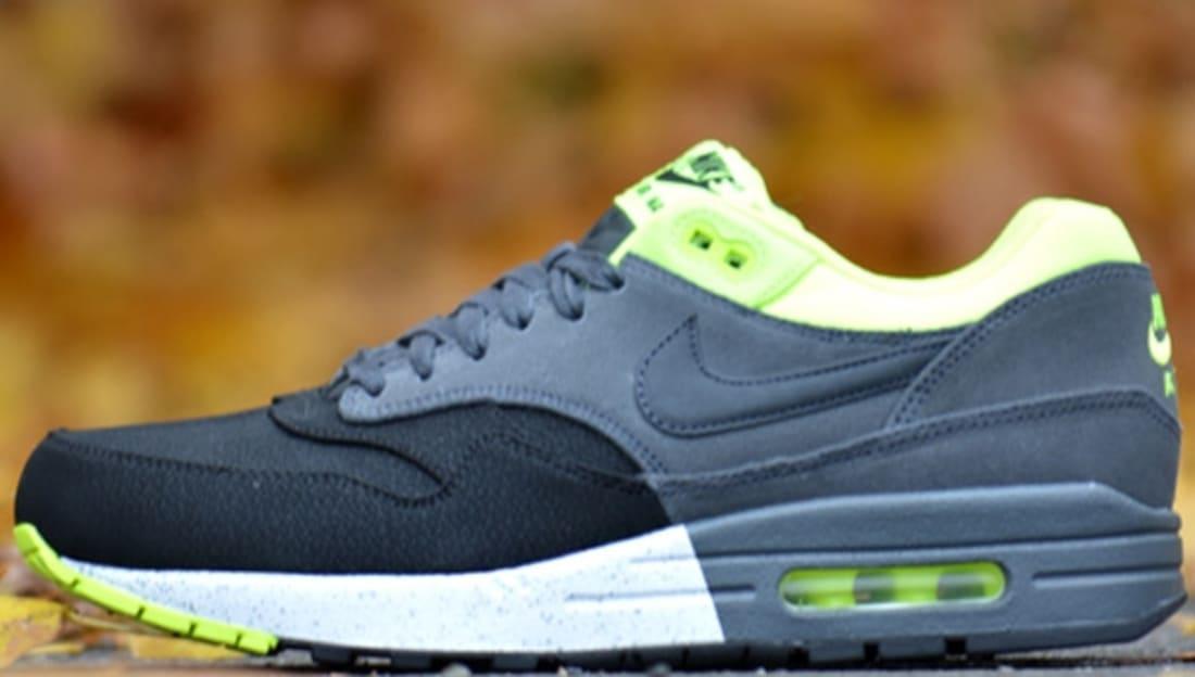 Nike Air Max 1 Premium Black/Anthracite-Volt