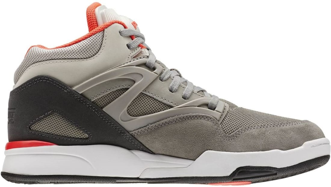 756e4e15065 Reebok Pump Omni Lite Dark Heather Grey Carbon-Medium Grey-Solar Red ...