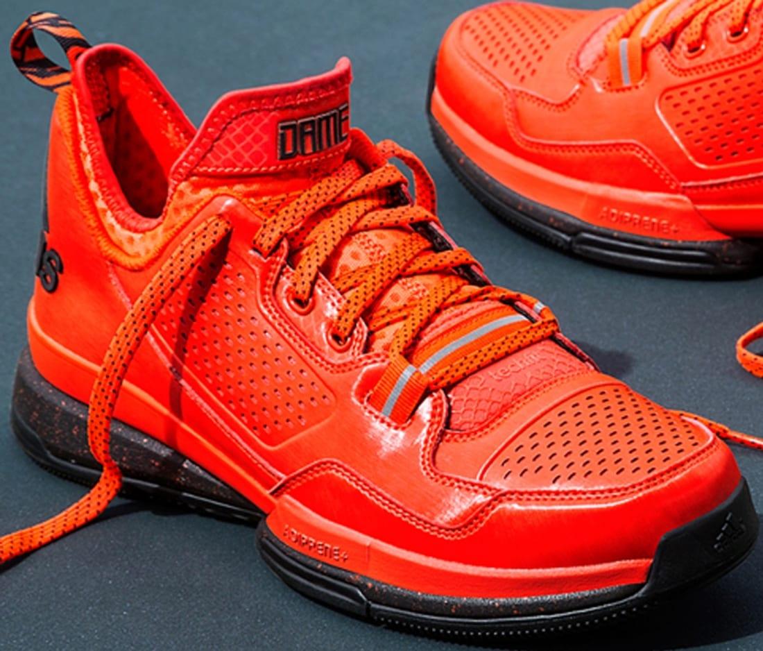 adidas D Lillard 1 Solar Red/Black