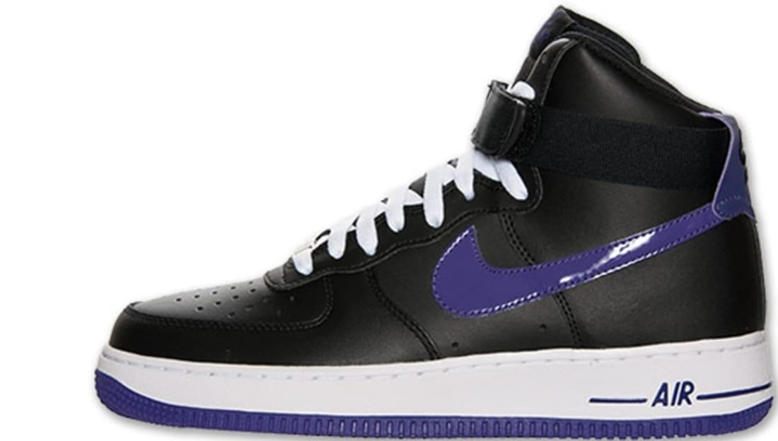 Nike Air Force 1 High Black Court Purple Nike Sole Collector