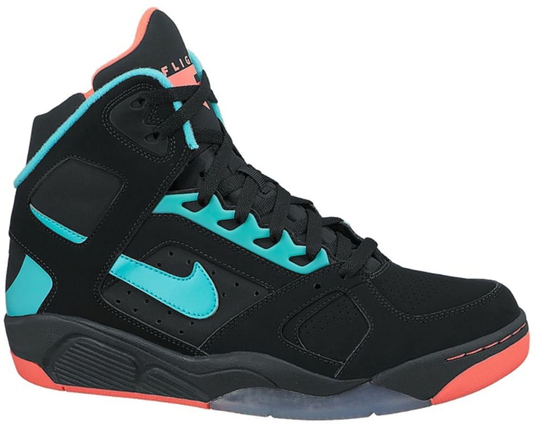 Nike Air Flight Lite High Black/Hyper Punch-Hyper Jade