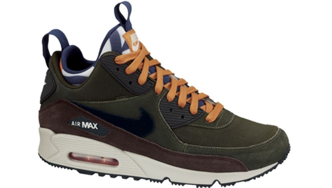 Nike Air Max '90 Sneakerboot Lagoon Green/Black-Baroque Brown-Brave Blue