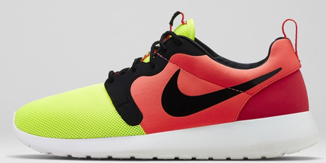 sneakers for cheap 403ac 32a3b Nike Roshe Run HYP Premium Volt Black-Hyper Punch
