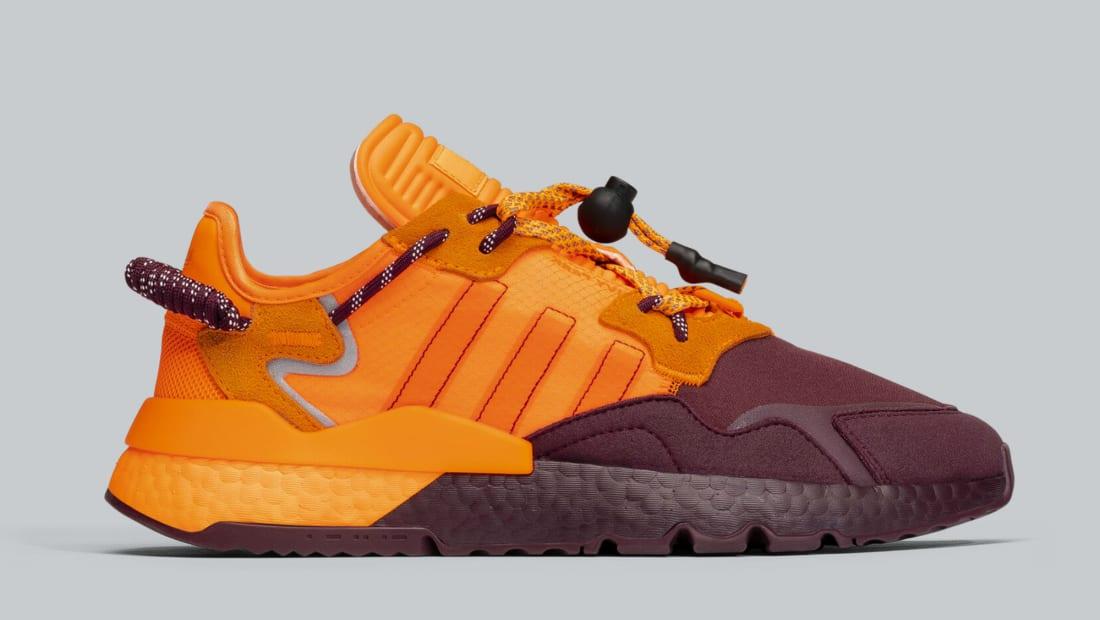 Ivy Park X Adidas Nite Jogger Maroon Solar Orange Solar