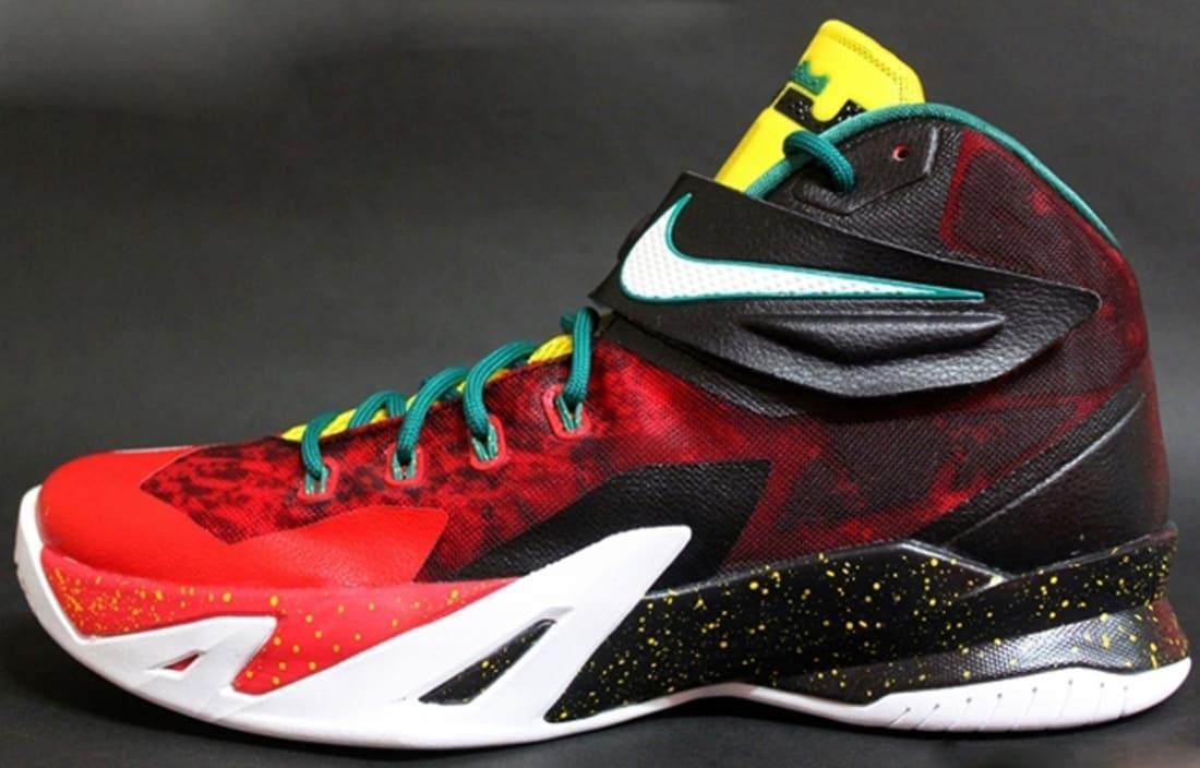 Nike Zoom Soldier VIII Premium Black/White-University Red-Tour Yellow-Pine Green