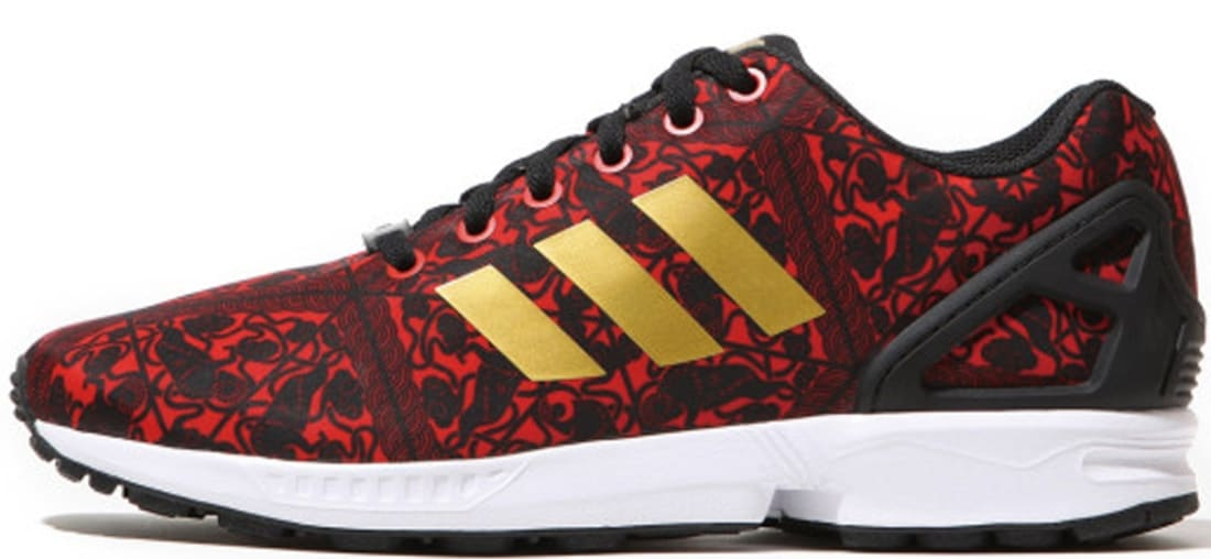 superior quality 7bf5c 0b26b adidas Originals ZX Flux CNY Red/Metallic Gold-Core Black ...