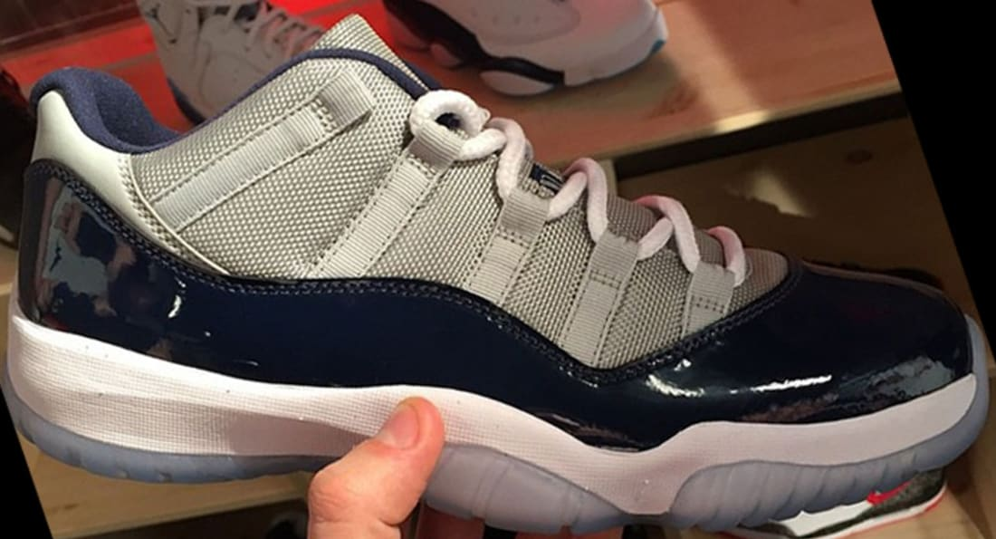 Air Jordan 11 Retro Low Grey Mist/White-Midnight Navy