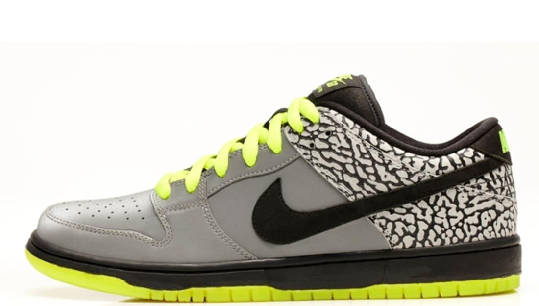 Nike Dunk Low Premium SB QS Metallic Silver/Black-Volt