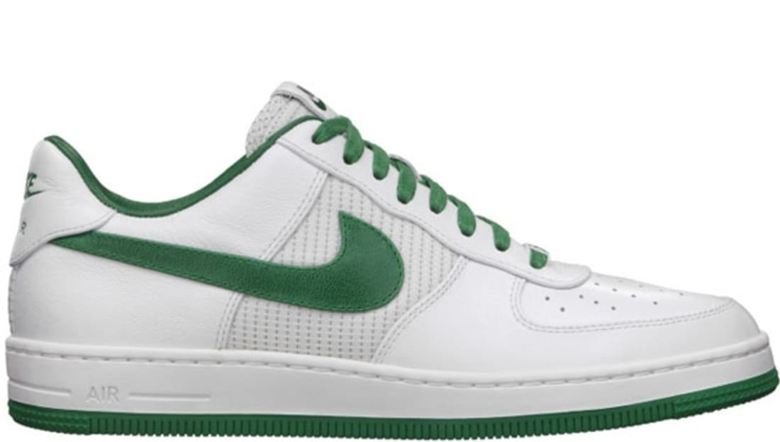 buy popular fb540 95375 Nike Air Force 1 Low Downtown Leather QS White Pine Green