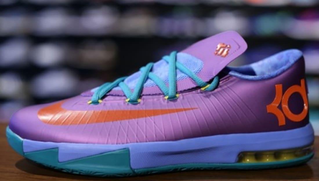 Nike KD VI GS Laser Purple Team Orange-Sport Turquoise  65a28d88707f