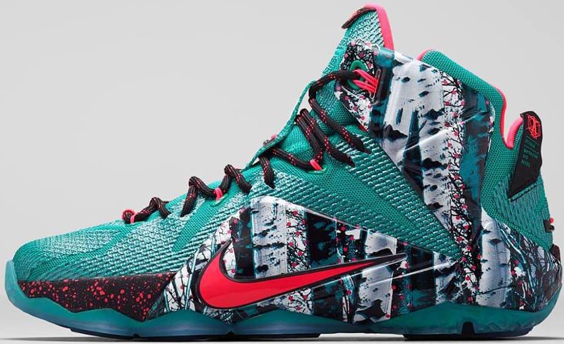 Nike LeBron 12 Emerald Green/Hyper Punch-Dark Emerald