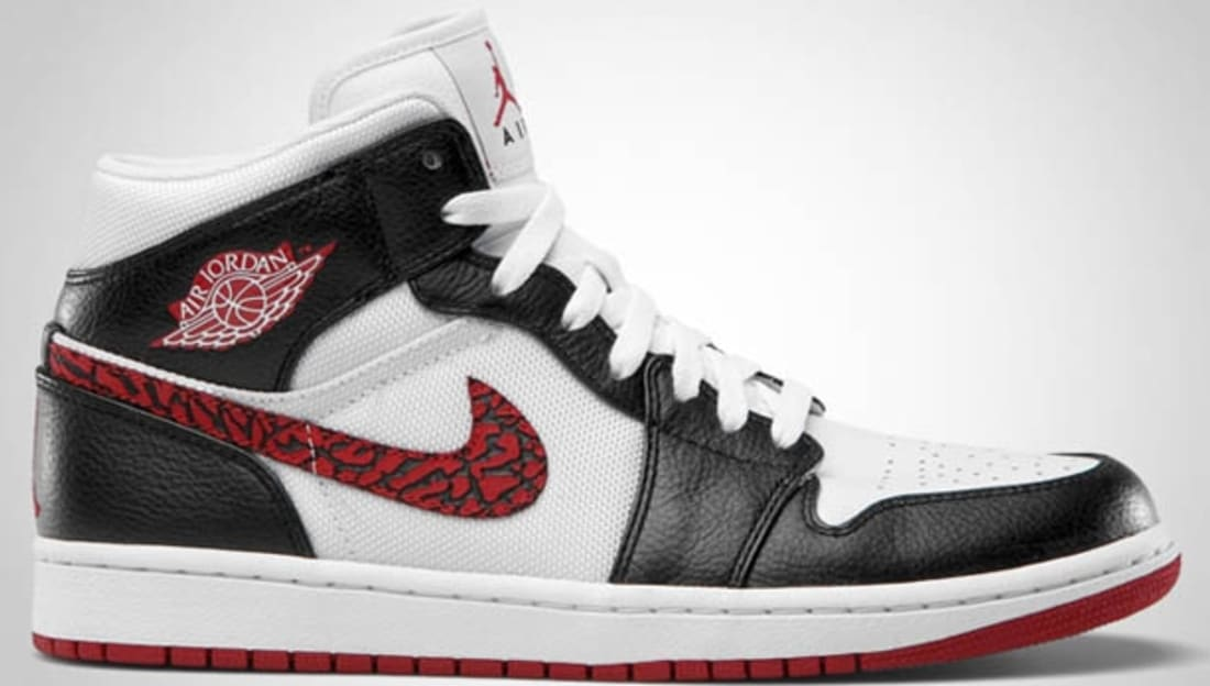 buy popular e87f4 14d1b Air Jordan 1 Phat Mid White Varsity Red-Black