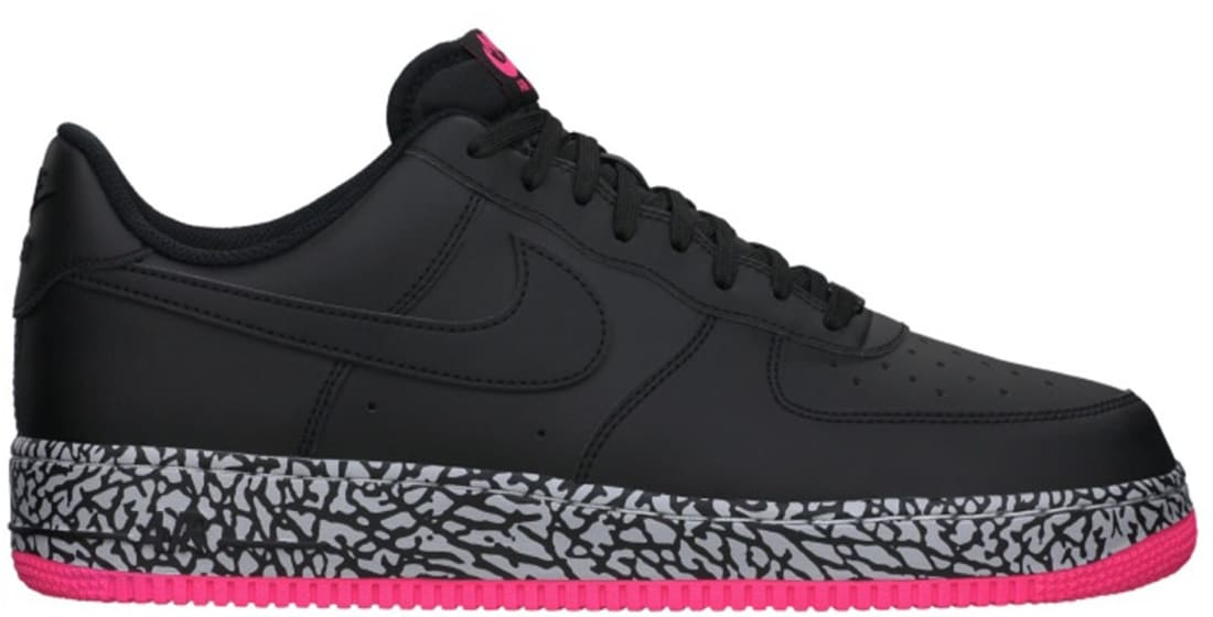 hot sale online aaa2f 38c0b Nike Air Force 1 Low Black Black-Hyper Pink-Wolf Grey