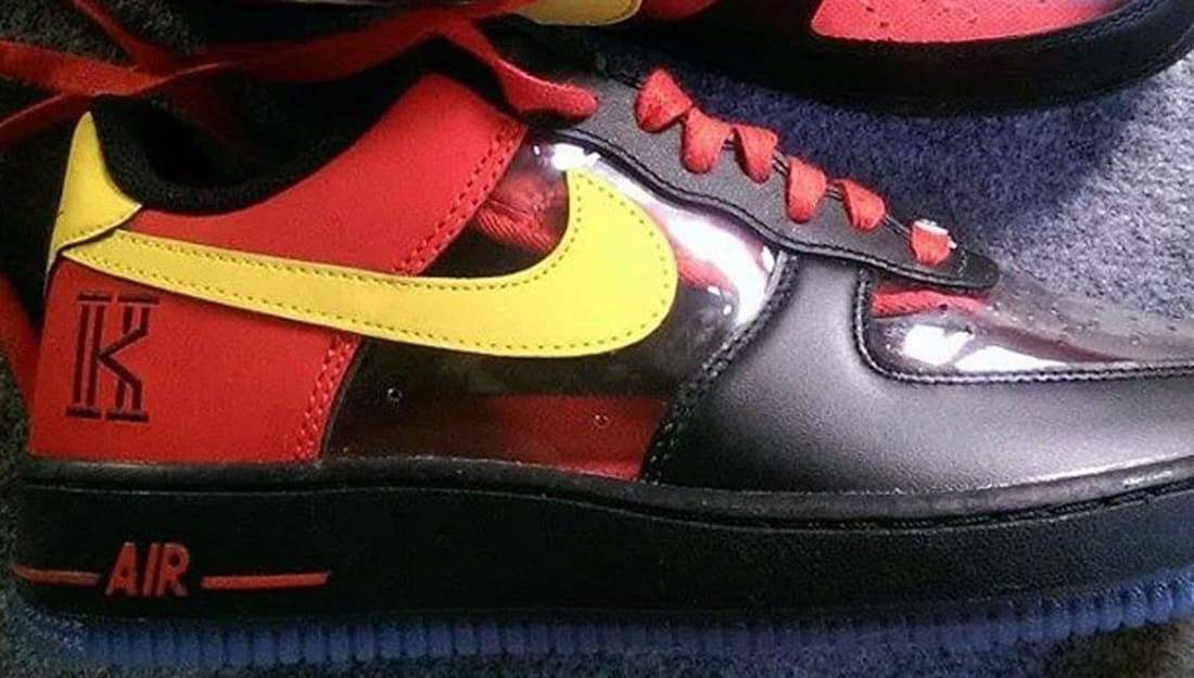 Nike Air Force 1 Low CMFT Signature Black/Tour Yellow-University Red