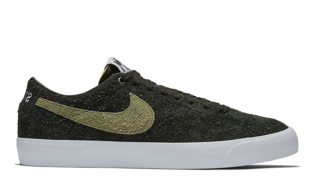 Stüssy x Nike SB Blazer Low Black/Palm Green