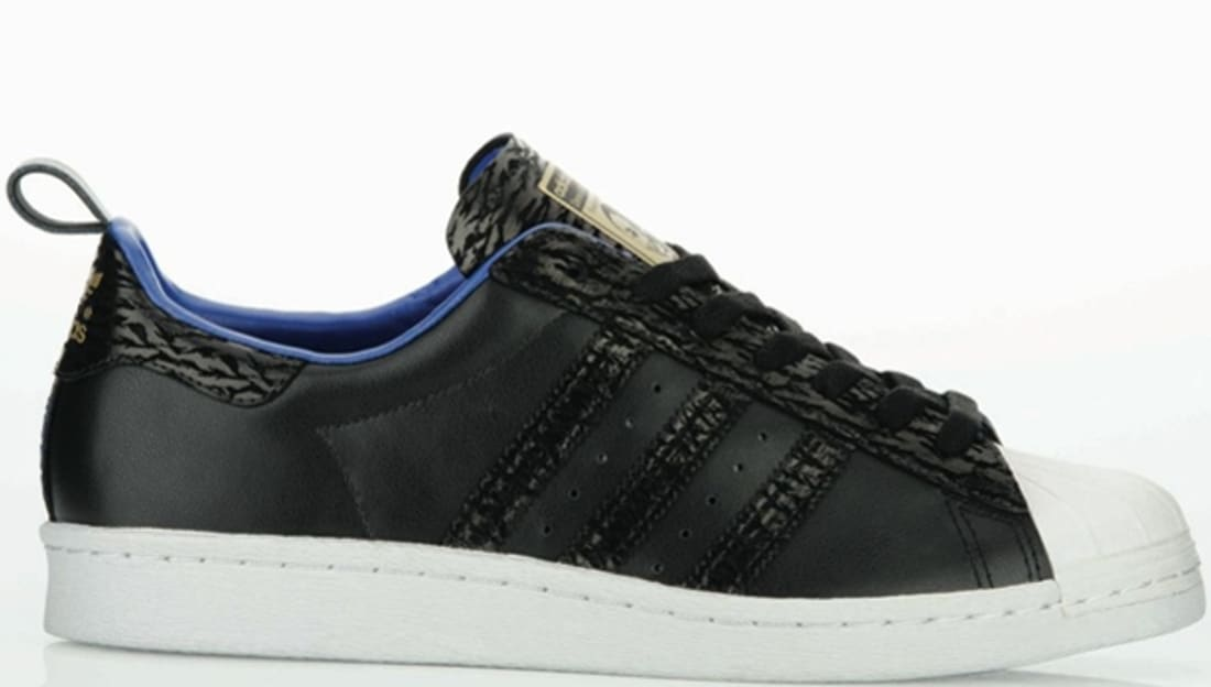 adidas Originals Superstar 80s BlackBlack Metallic Gold