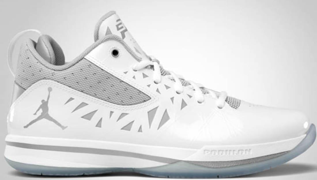 Jordan CP3.V White/Metallic Silver