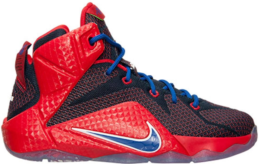 hot sale online 16297 9966a Nike LeBron 12 GS University Red Game Royal-Midnight Navy