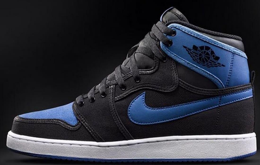 Air Jordan 1 Retro KO High OG Black/Black-Sport Blue