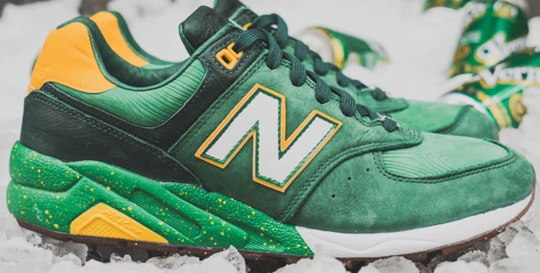 New Balance 572 Green/Yellow