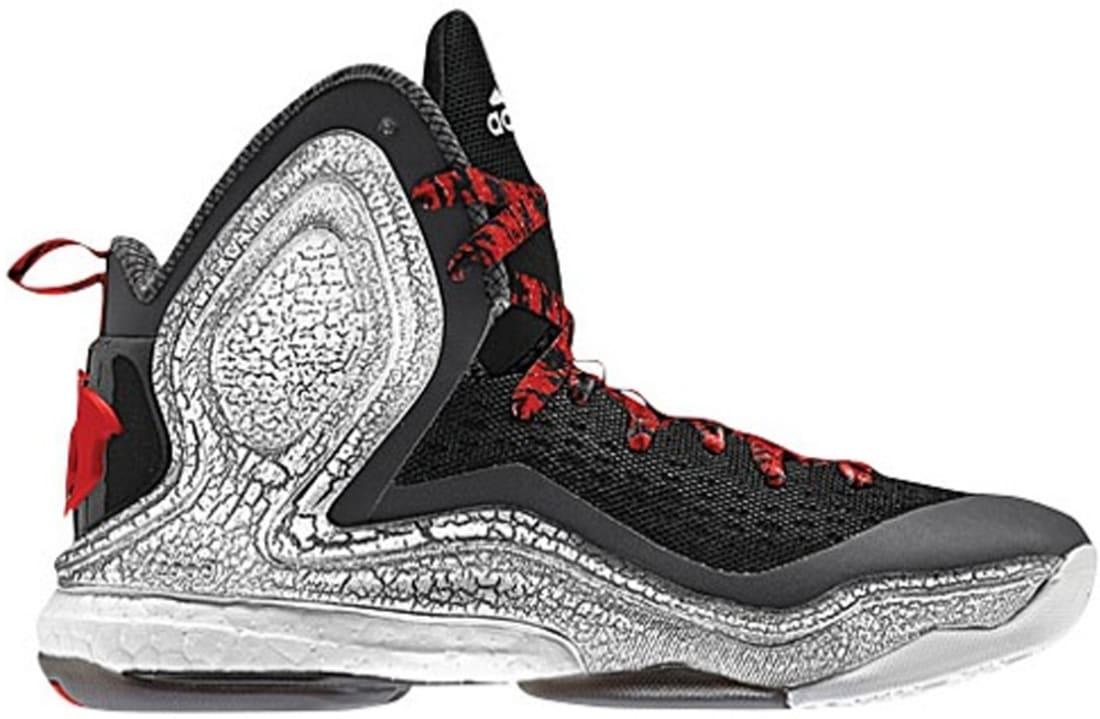 adidas D Rose 5 Boost Black/Scarlet-Carbon