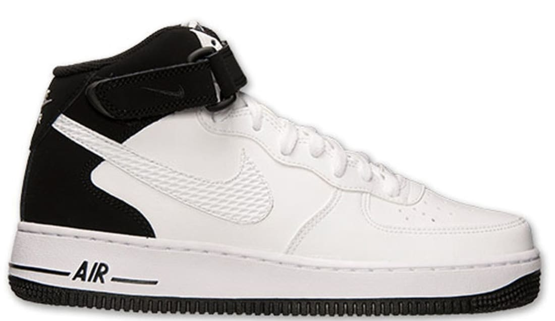 Nike Air Force 1 Mid White/White-Black