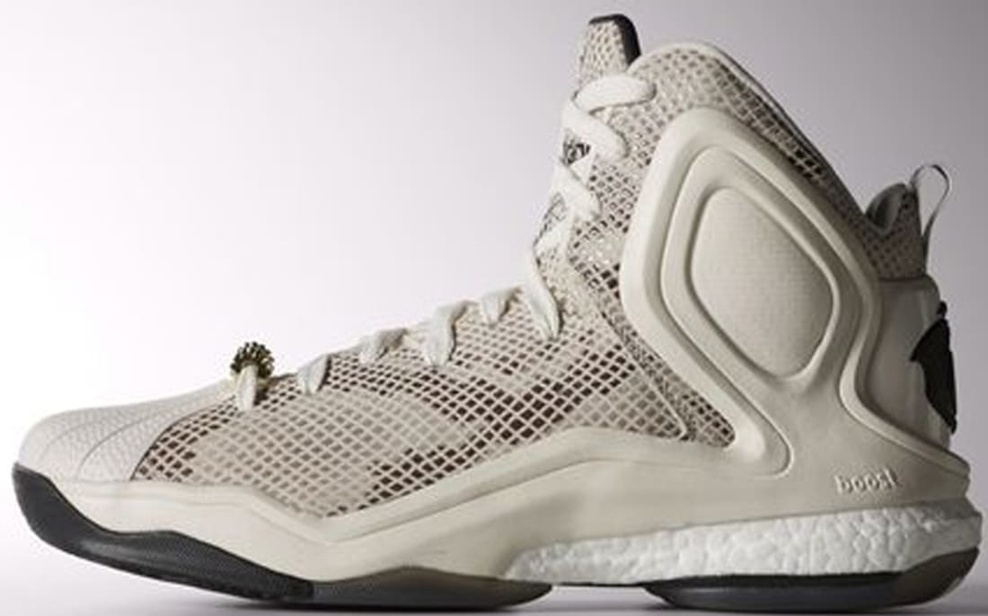 adidas D Rose 5 Boost Chalk White/Core Black-Clear Brown