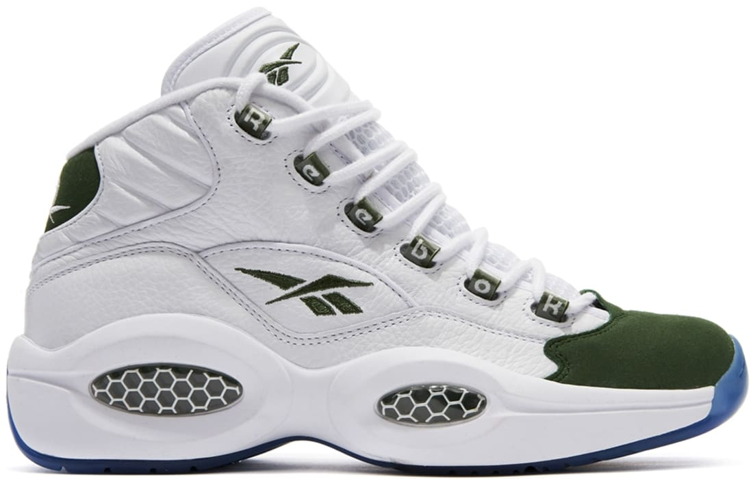 Reebok Question Mid WhiteRacing Green | Reebok | Sole Collector