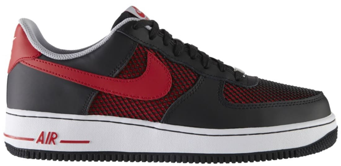 Nike Air Force 1 Low Black/University Red-Wolf Grey-White