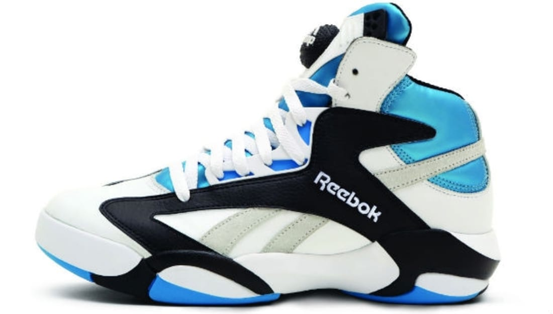 Reebok Shaq Attaq White Black-Azure-Steel  6a35e1293
