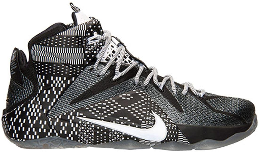 wholesale dealer 2f8e9 69beb Nike LeBron 12 BHM Black/White-Metallic Silver | Nike | Sole ...