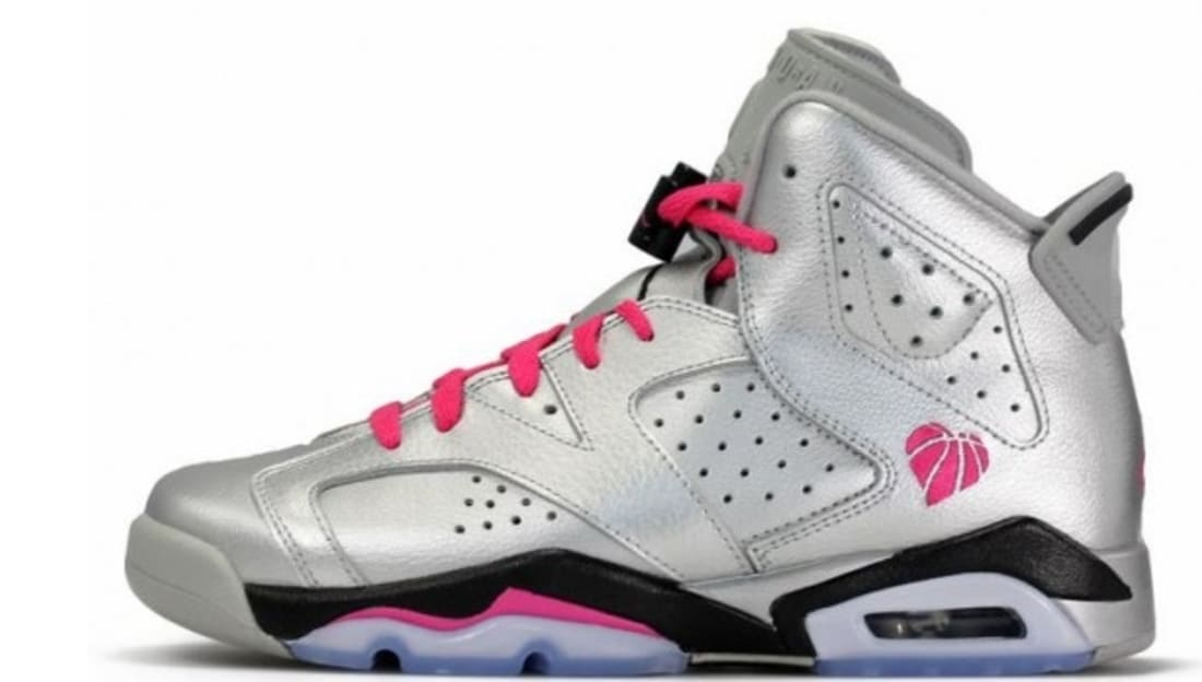 half off 5799e 5b830 ... reduced air jordan 6 retro girls metallic silver vivid pink black 483ab  0898a get air jordan 6 retro gs game royal ...