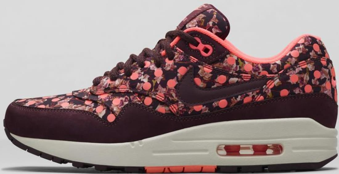 50% price special section best shoes Nike Air Max 1 Liberty Women's Deep Burgundy/Bright Mango ...