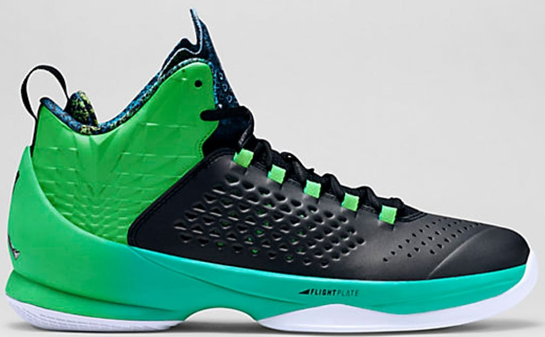 Jordan Melo M11 Black/Black-Light Green Spark-Retro