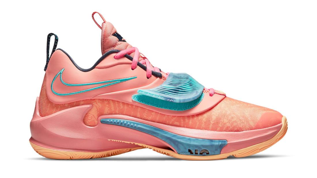 Nike Zoom Freak 3 Crimson Bliss/Dynamic Turquoise/Melon Tint/Thunder Blue