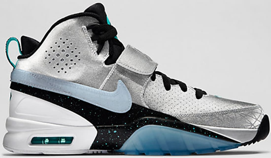 Nike Air Bo 1 Premium Metallic Silver/Light Aqua-Wolf Grey-Blue Legend
