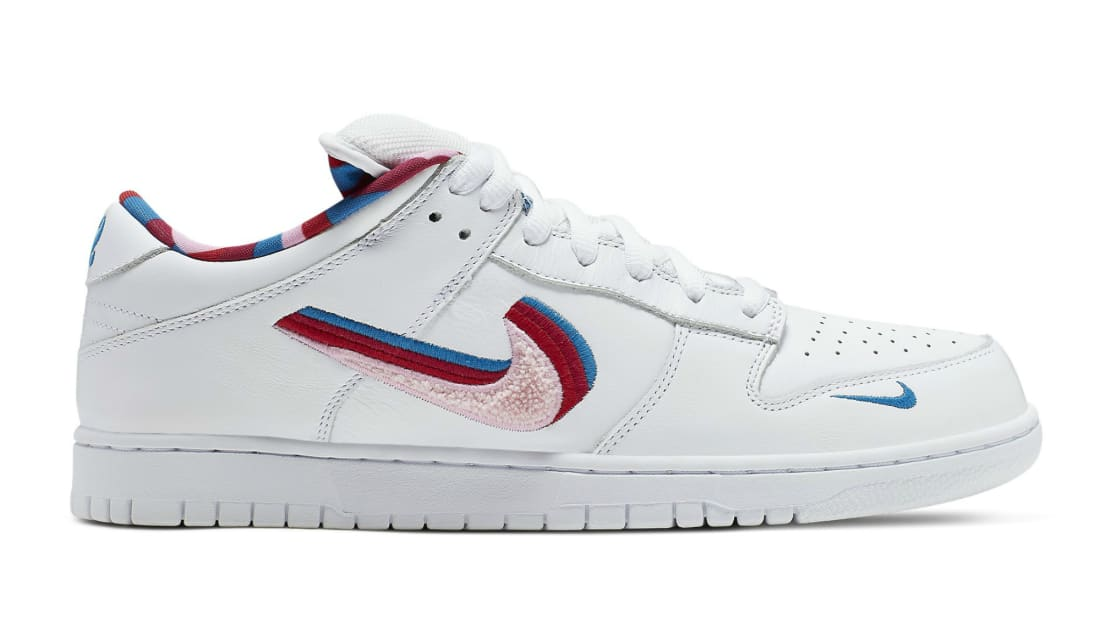 another chance 1af66 f61b5 Parra x Nike SB Dunk Low White/Pink Rose/Gym Red/Military ...